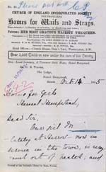 Image of Case 942 23. Letter from Hemel Hempstead about M's health  14 October 1895  page 1