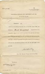 Image of Case 942 26. Order under the Industrial Schools Amendment Act  17 February 1896  page 1