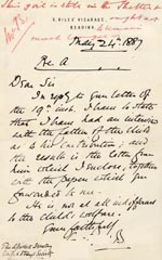 Image of Case 1024 7. Letter from Revd Bourke  24 May 1887  page 1