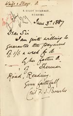 Image of Case 1024 10. Letter from Revd Bourke  3 June 1887  page 1