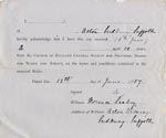 Image of Case 1024 14. Form of Receipt  13 June 1887  page 1