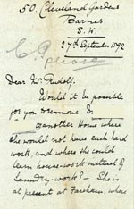 Image of Case 1106 10. Letter from the Barnes Ladies Association 27 Sept 1892  page 1