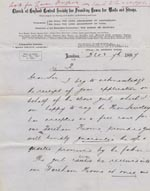 Image of Case 1180 2. Letter to Revd H.R. Baker St. Michaels' Vicarage 7 December 1887  page 1