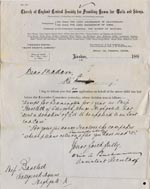 Image of Case 1214 3. Letter to Miss Bartlett concerning Application to Waifs and Strays' Society c. 12 September 1887  page 1