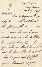 Image of Case 1214 18. Letter from A's brother 23 August 1888  page 1