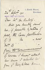 Image of Case 1265 11. Extract of letter from Mrs Bostock 11 September 1901  page 1