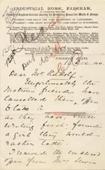 Image of Case 1269 7. Letter from Fareham 13 December 1890  page 1