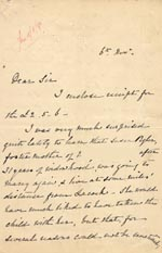 Image of Case 1294 6. Letter from Mrs Bere to Revd Edward Rudolf  6 November 1895  page 1
