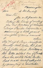 Image of Case 1294 8. Letter from E's paternal grandmother  c. 18 November 1895  page 1