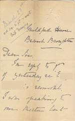 Image of Case 1294 19. Letter from Miss Lamb, Guildford Home to Revd Edward Rudolf  23 March 1898  page 1