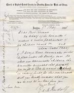 Image of Case 1372 2. Letter from Revd Edward Rudolf to Mrs Torrance 9 May 1888  page 1