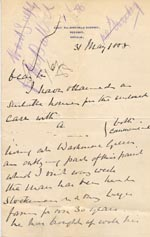 Image of Case 1399 3. Letter from the Great Waldingfield Rectory 31 May 1888  page 1