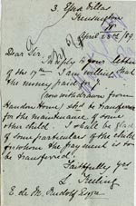 Image of Case 1399 6. Letter to Revd Edward Rudolf from L. Freiling 23 April 1889  page 1