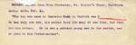 Image of Case 2258 14. Extract of a letter from Miss Cholmeley 24 February 1911  page 1