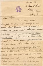 Image of Case 2716 3. Letter from M's brother to M. 26 January 1891  page 1