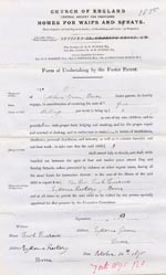 Image of Case 2835 6. Form of Undertaking by the Foster Parent 10 October 1895  page 1