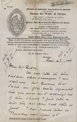 Image of Case 3271 5. Letter from Home of the Good Shepherd to Edward Rudolf  4 April 1896  page 1