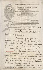 Image of Case 3271 7. Letter from Home of the Good Shepherd to Edward Rudolf  20 August 1896  page 1