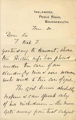 Image of Case 3271 10. Letter from F's employer, Miss G. Scott to Edward Rudolf  20 January 1907  page 1