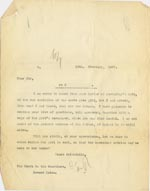 Image of Case 3271 17. Copy of letter from Edward Rudolf to Havant Union  16 February 1907  page 1