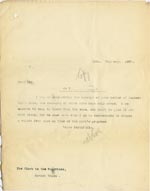 Image of Case 3271 19. Copy of letter from Edward Rudolf to Havant Union  19 February 1907  page 1