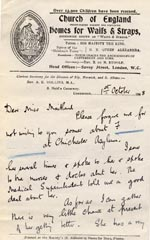 Image of Case 3271 29. Letter from Revd Hollins to Miss Maitland  1 October 1908  page 1