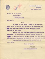 Image of Case 3271 38. Letter from West Sussex County Asylum to Edward Rudolf  24 January 1911  page 1