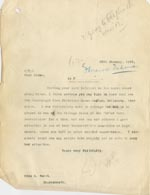 Image of Case 3271 49. Copy of letter from Edward Rudolf to F's employer, Miss G. Scott  20 January 1912  page 1