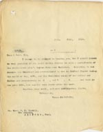Image of Case 3271 51. Copy of letter from Edward Rudolf to Revd Tindall concerning F's baptism  25 July 1913  page 1