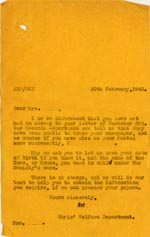 Image of Case 3271 63. Letter to F.  20 February 1941  page 1