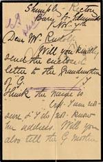 Image of Case 3303 3. Letter to Revd Edward Rudolf from Mary Bolton, Shimply Rectory c. 7 November 1892  page 1