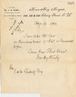 Image of Case 3303 9. Letter from Mr Kirby, Secretary of the House-Boy Brigade 12 August 1899  page 1