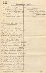 Image of Case 3303 12. Letter from the Cornwall Coastguard 3 December 1902  page 1