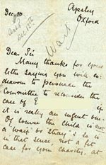 Image of Case 3392 4. Letter from Miss B. 10 December 1892  page 1