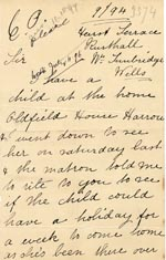 Image of Case 3574 3. Letter from S's father c. September 1894  page 1