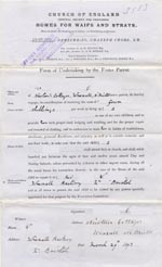 Image of Case 3583 3. Form of Undertaking by the Foster Parent 29 March 1893  page 1
