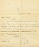Image of Case 3583 8. Copy of letter from Edward Rudolf to Henry Vaughan 25 September 1900  page 1