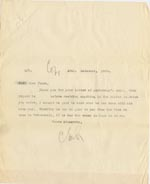 Image of Case 3622 15. Letter to Miss Joyce at Tattenhall Home 15 November 1909  page 1