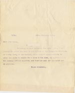 Image of Case 3623 12. Letter to Miss Joyce at Tattenhall Home Committee 20 October 1909  page 1