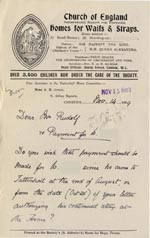 Image of Case 3623 14. Letter from Tattenhall Home Committee 14 November 1909  page 1