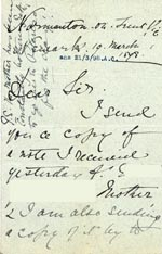 Image of Case 3695 4. Letter from E's employer 19 March 1898  page 1