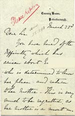 Image of Case 3695 5. Letter from E's employer 23 March 1898  page 1