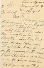 Image of Case 3695 9. Letter from E. 14 November 1902  page 1