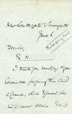 Image of Case 3737 4. Letter from New Southgate vicarage 6 June 1893  page 1