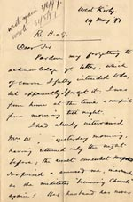 Image of Case 4171 6. Letter from Mrs B. about the boys' foster mother  19 May 1897  page 1