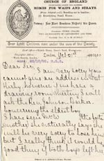 Image of Case 4171 10. Letter from Mrs H. suggesting both the boys leave their foster mother's care  21 October 1900  page 1