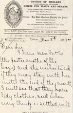 Image of Case 4172 16. Letter from Mrs H. asking if the boys may stay with their foster mother until the end of the month  3 November 1900  page 1