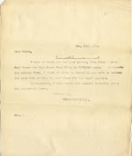 Image of Case 4172 18. Copy letter from Revd Edward Rudolf acknowledging the above letter  24 November 1900  page 1