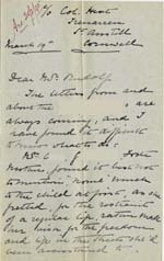 Image of Case 4488 5. Letter from Miss Parker 19 March 1895  page 1