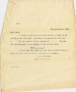 Image of Case 4664 6. Copy of letter from Edward Rudolf 27 September 1900  page 1